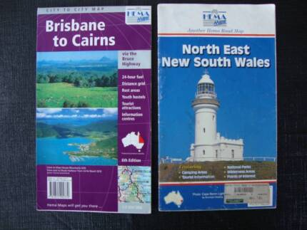 Road Maps - Brisbane to Cairns & New South Wales (north east)
