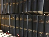 ALL ENGLAND LAW REPORTS 1558-2003 COMPLETE SET, 325 QUANTITY
