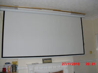 "120"" PROJECTOR SCREEN MOTORISED"