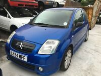 2004 CITROEN C2 VTS 16V (MANUAL PETROL)- FOR PARTS ONLY