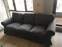Nearly new Ektorp grey 3 seater sofa and John Lewis tv stand