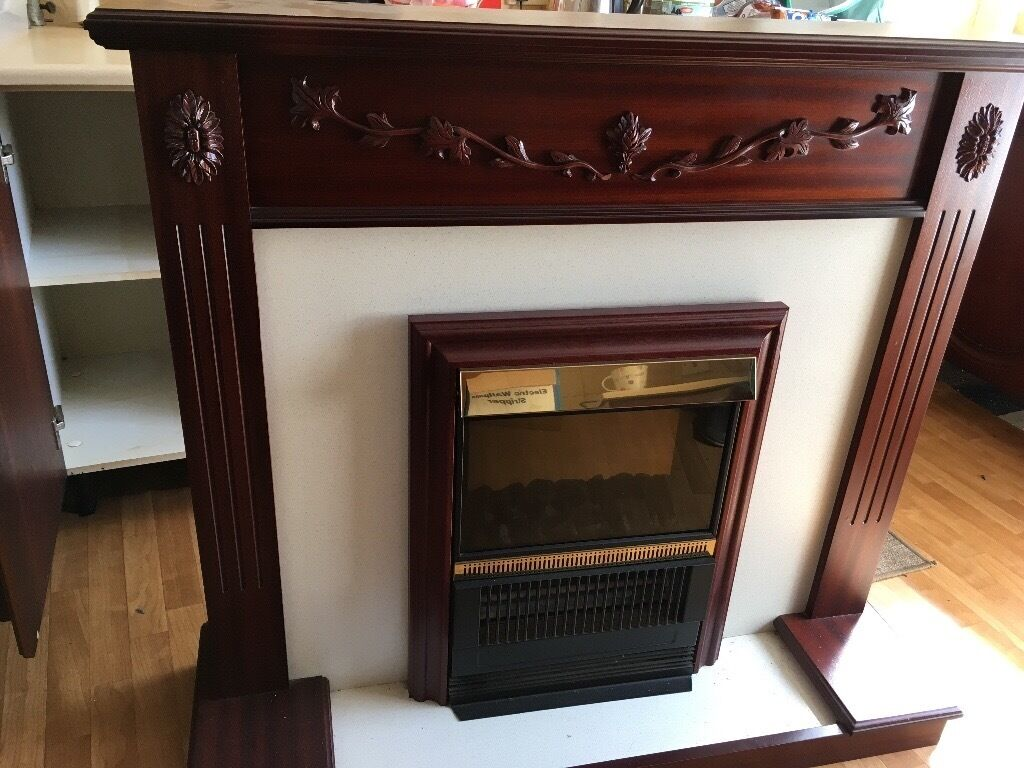 Lovely electric fire in mahogany surround fireplace in  : 86 from www.gumtree.com size 1024 x 768 jpeg 115kB