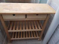 IKEA Forhoja Kitchen Trolley Workbench Birch