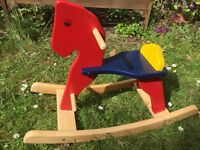 Wooden Rocking Horse (Pintoy)