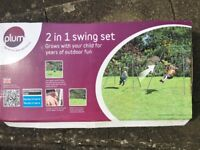 2-in-1 swing set, suitable for both babies and children