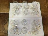 VINTAGE GLASSES : WINE, SNOWBALL (GOLDWELL), BRANDY, BABYCHAM 'CHAMPAGNE PERRY' : Prices £1 - £5