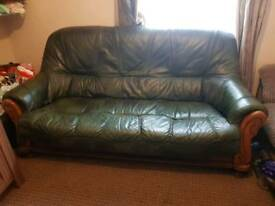 3 seater sofa. Genuine leather