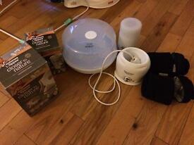 Baby steriliser, bottle warmer pump & thermos