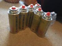 Butane gas bottles x6