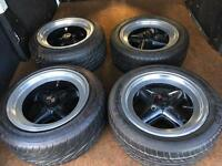 "Mini 13"" Revolution staggered deep dish wheels"