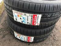 2 x Kumho Ecsta tyre 225/40/R19 93Y for bmw ford vauxhall vw