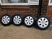 Audi 16inch alloy wheels (Brand New Tires) 205/55 R 16