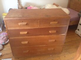 Large Oak Chest of Draws