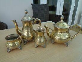Vintage Lakshmi Electroplated Nickel Silver (EPNS) Tea Set