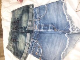 TOPSHOP & Thomas Wolfe denim shorts