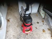 Pressure patio / car washer with lance and nozzle 80 bar comes with long hose reel on wheels vgc gwo