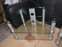 Glass TV stand - 3 tier.