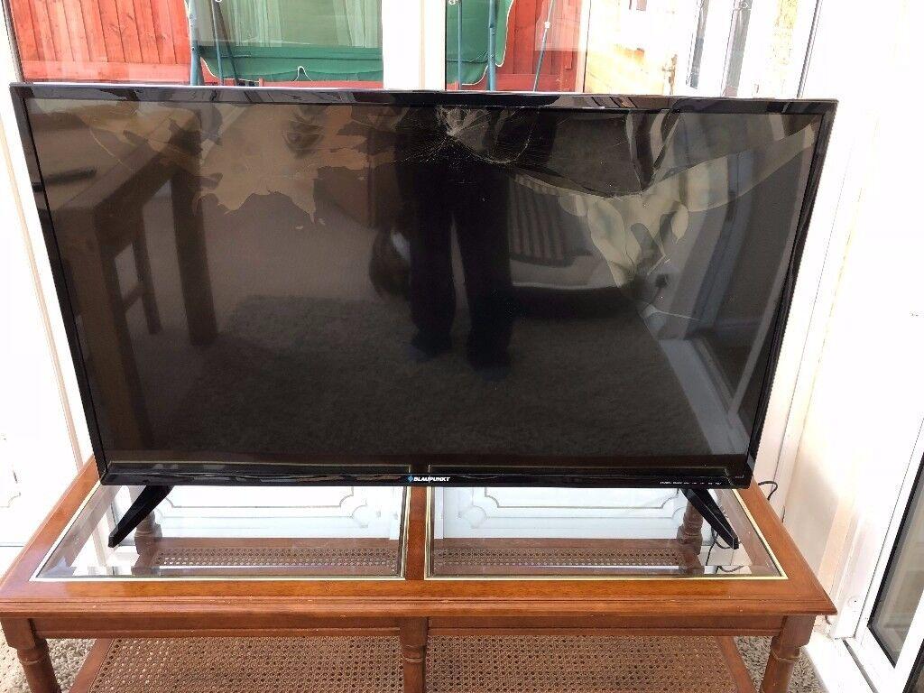"Blaupunkt 49"" LED TV with broken screen - Collect only Warrington WA1"