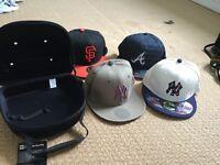 New era baseball caps and carrycase