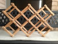 Pine Wood Wine Rack