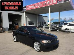 2008 BMW 1 Series 135i cuir rouge convertible