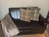 Leather 2 x seater and chair