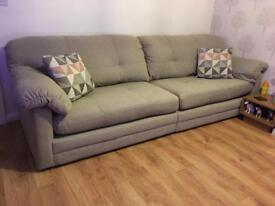 4 Seater Sofa and Snuggle Chair SOLD