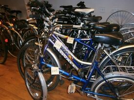 Used Bikes from £40, New Bikes from £95. Second hand bicycle parts, Cycle Hire, 261 Newmarket Road