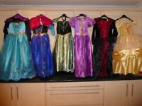 A Selection of 6 Girls Fancy Dress Outfits