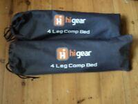 2 x Hi Gear grey single camp or guest bed