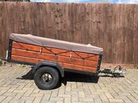 Trailer Single Axel Solid Wood