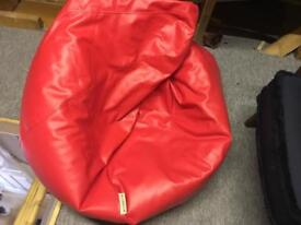 Faux leather bean bag