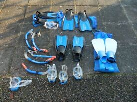 Kids snorkelling kit - fins/mask/snorkel