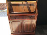 Solid Yew wood writing bureau