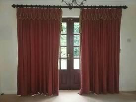 2 Pairs floor length curtains