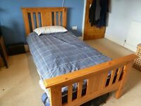Single bed, pine, integrated headboard, excellent condition