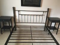 Excellent condition Brass Effect Double Bed