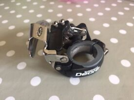 Shimano Deore 9 speed band-on front derailleur (28.6mm diameter) bottom pull