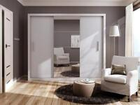 NEW 2 OR 3 DOOR SLIDING WARDROBE WITH FULL MIRROR