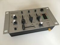Konig 3-Channel DJ Mixer, incl. multiple phono/3.5mm cables