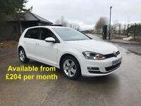 Volkswagen Golf (Leon Jetta Passat A3 A4 320d Astra Focus) £204 per month