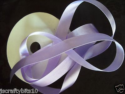 15mm Double Sided Satin Ribbon Lavender Colour. 38 - 3mtrs ()