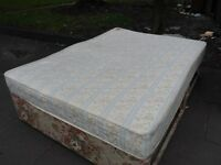 DOUBLE BED BASE & MATTRESS & HEADBOARD COMPLETE BED WITH FOUR DRAWS STORAGE 2 ON EACH SIDE DELIVER