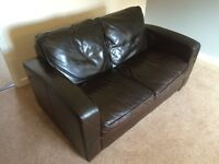 Leather Sofa - Excellent condition. As NEW.