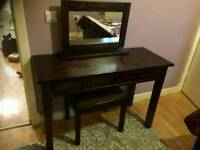 Beautiful Elegant two Drawer Mirror Dressing Table - Quality Item