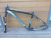 MERIDA BIG SEVEN 500 mountain bike frame, fork Rox Shocks XC 30 and handle bar