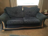 3 seater sofa two armchairs and a footstool