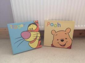 Winnie the Pooh and Tiger canvas pictures