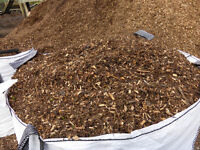 Screened Woodchip/bark and screened compost/topsoil / soil improver