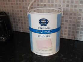 5 litres of paint(candy floss pink).